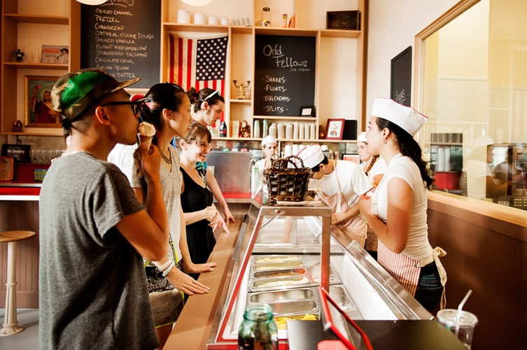 Sorveteria OddFellows Ice Cream Co. em Nova York