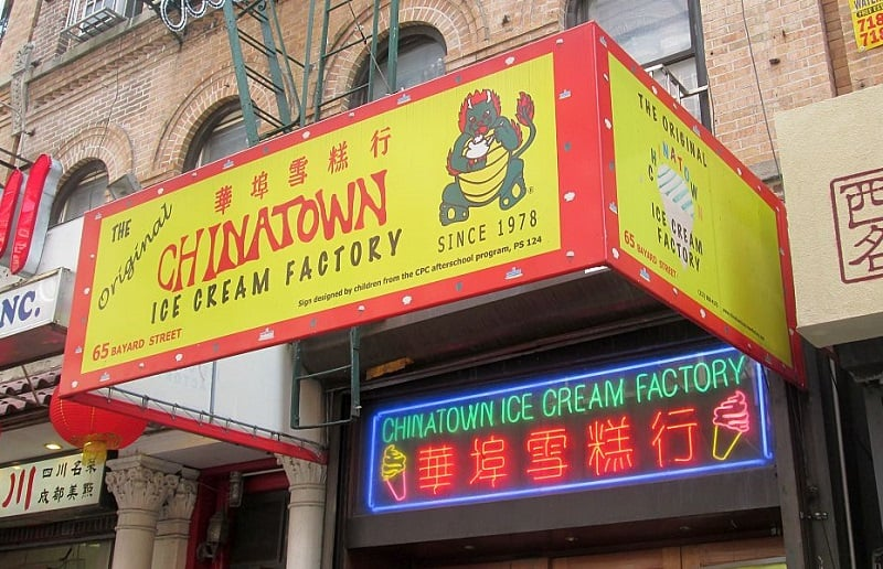Sorveteria Chinatown Ice Cream Factory em Nova York