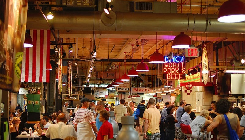 Reading Terminal Market na Filadélfia