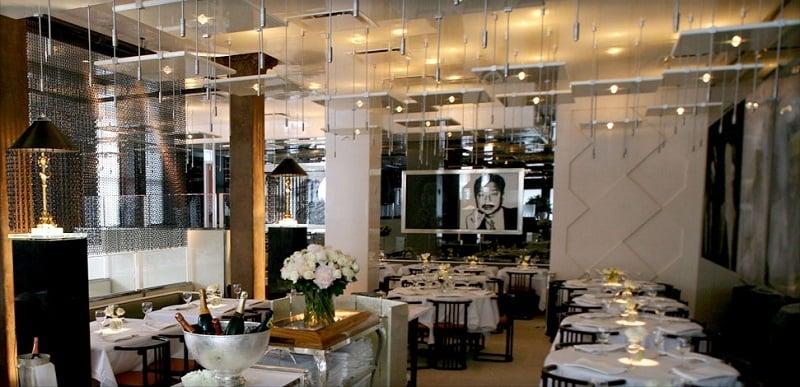 Estrutura do restaurante Mr Chow em Nova York