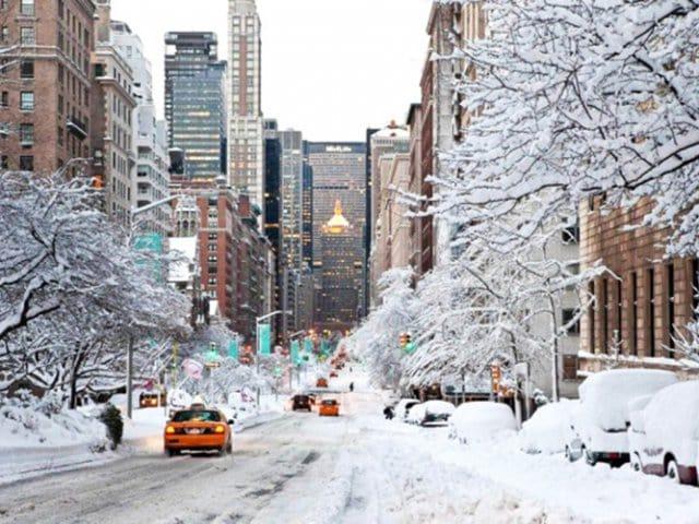 Quando e onde ver neve em Nova York