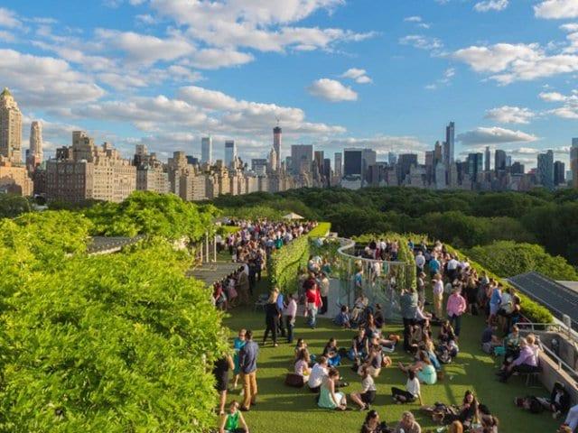 Roof Garden no Metropolitan Museum em Nova York