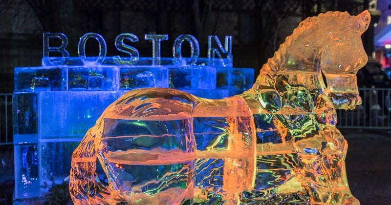 Copley Square no Ano Novo em Boston
