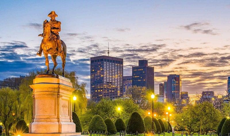 Boston Common e Boston Public Garden em Boston