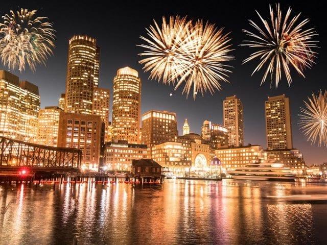 Ano Novo em Boston