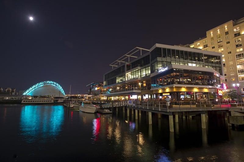 Termine o dia em Seaport District em Boston