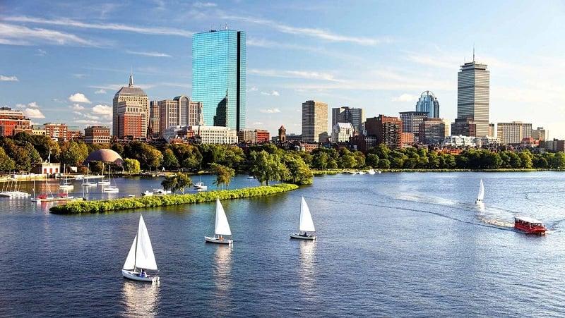 Diferença de fuso horário em Boston
