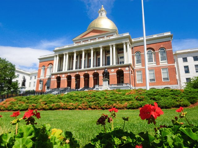 Massachusetts State House em Boston