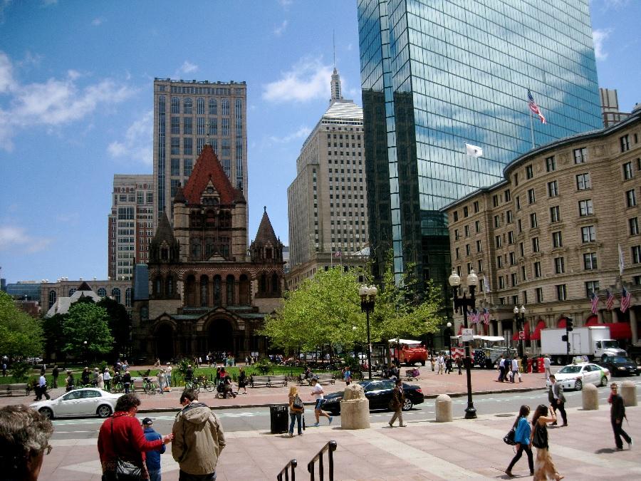 Praças em Boston