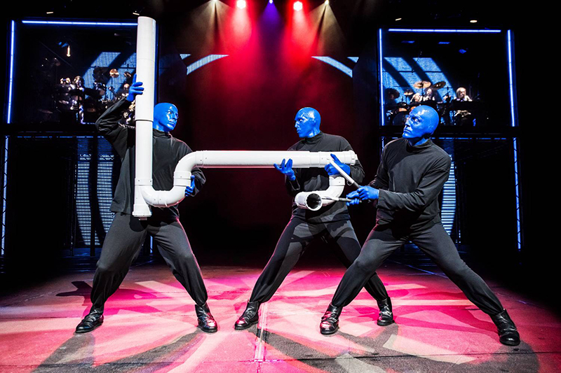 Percussão no show do Blue Man Group em Nova York