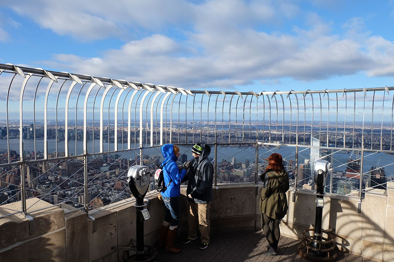 Mirante do Empire State Building em Nova York