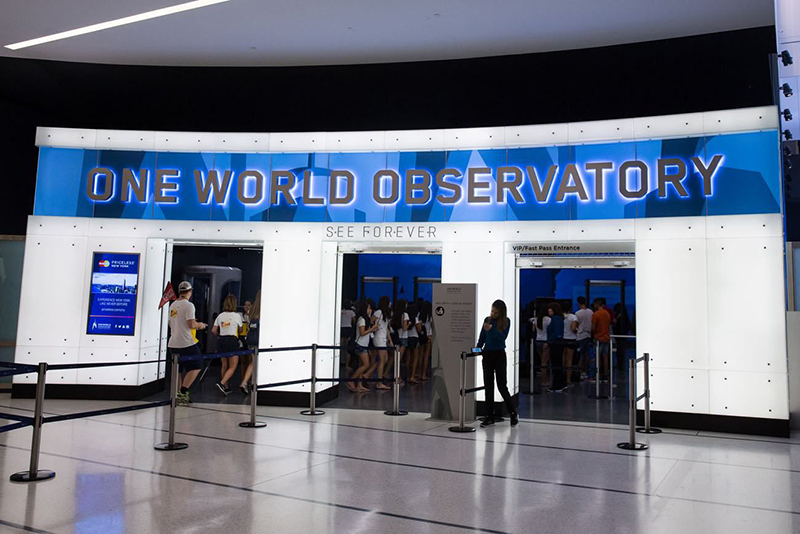 See Forever Theater no Observatório One World em Nova York