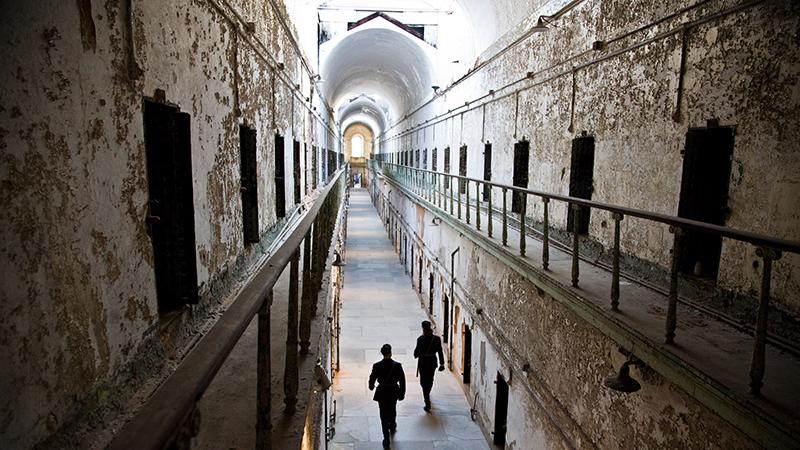 Prisão Eastern State Penitentiary na Filadélfia