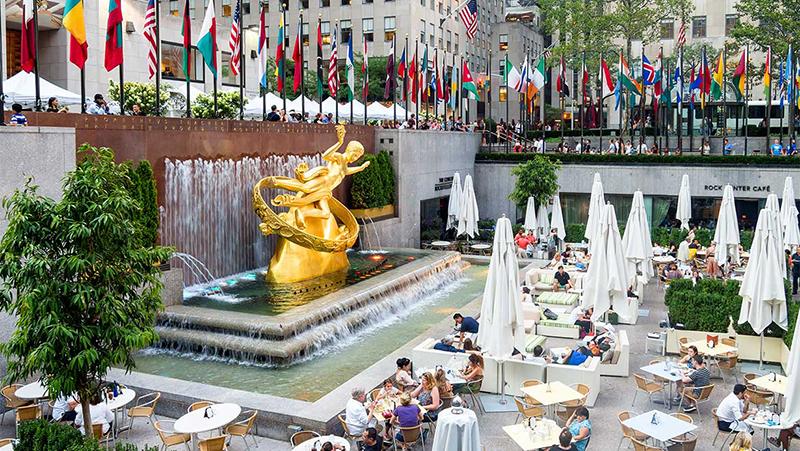 Gastronomia no Rockefeller Center em Nova York