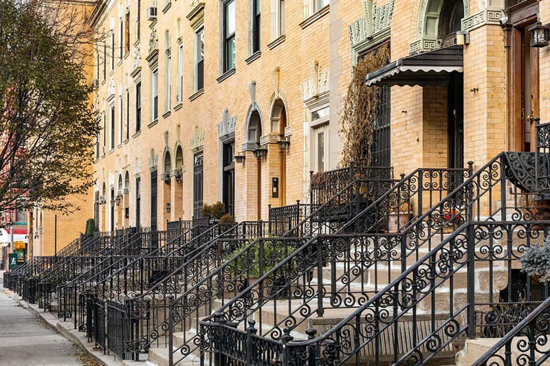 Harlem Striver's Row no Harlem em Nova York