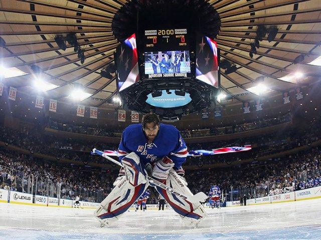 Hockey no gelo em Nova York