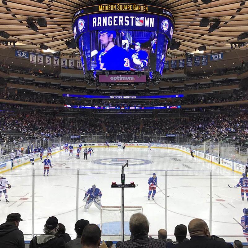 Ingressos para os jogos de hockey no gelo em Nova York
