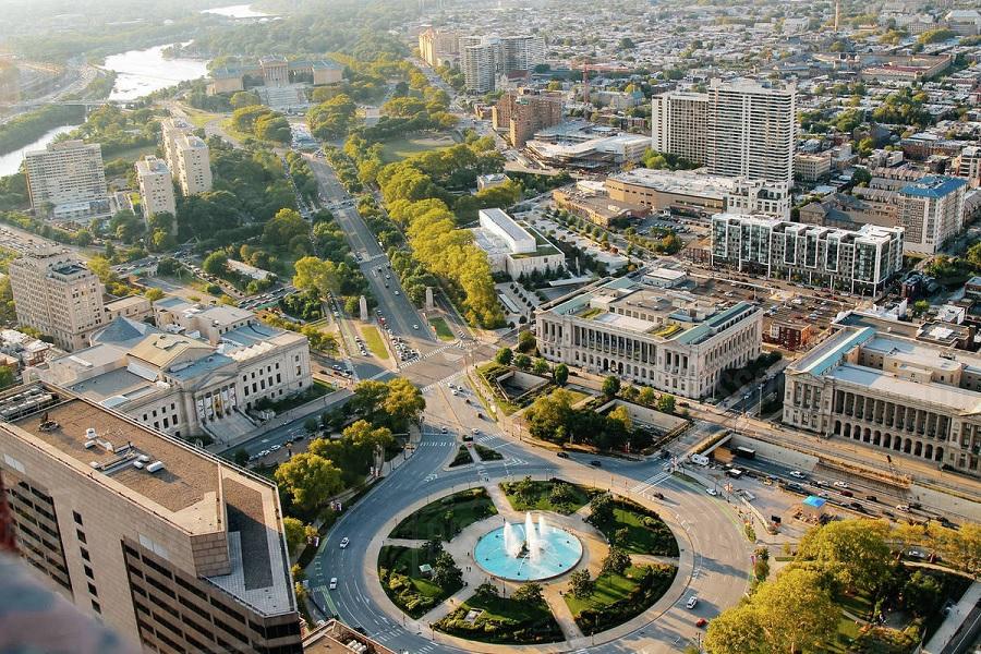 Parque Benjamin Franklin na Filadélfia